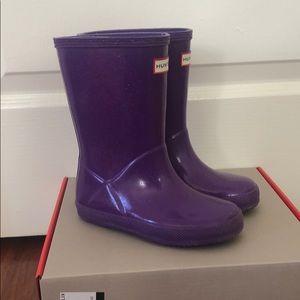 Hunter Starcloud Kids First Boots US10 glitter
